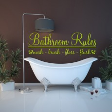 Bathroom rules