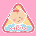 Baby on board girl